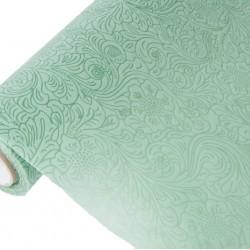 Фетр с тиснением Розы цветочные 50см x 5м зеленый