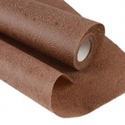 Фетр с тиснением Розы цветочные 50см x 5м коричневый
