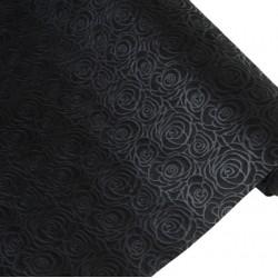 Фетр с тиснением Эдем-Розы 50см x 5м черный