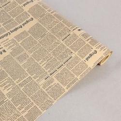 Бумага гладкая Крафт Винтажная газета  в ассортименте