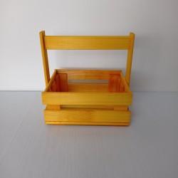 Ящик желтый 19*14*7